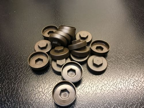 1000no. Vandyke Brown 19mm Colour Cap (Push On Colour Cap)